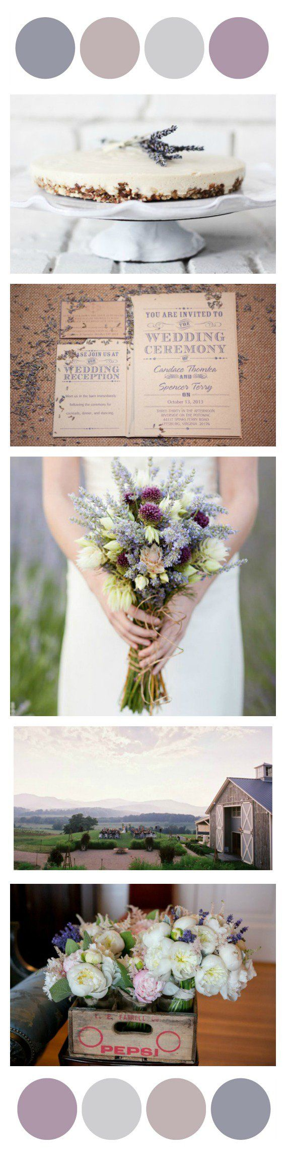 Lavender Wedding Color Inspiration - Rustic Wedding Chic