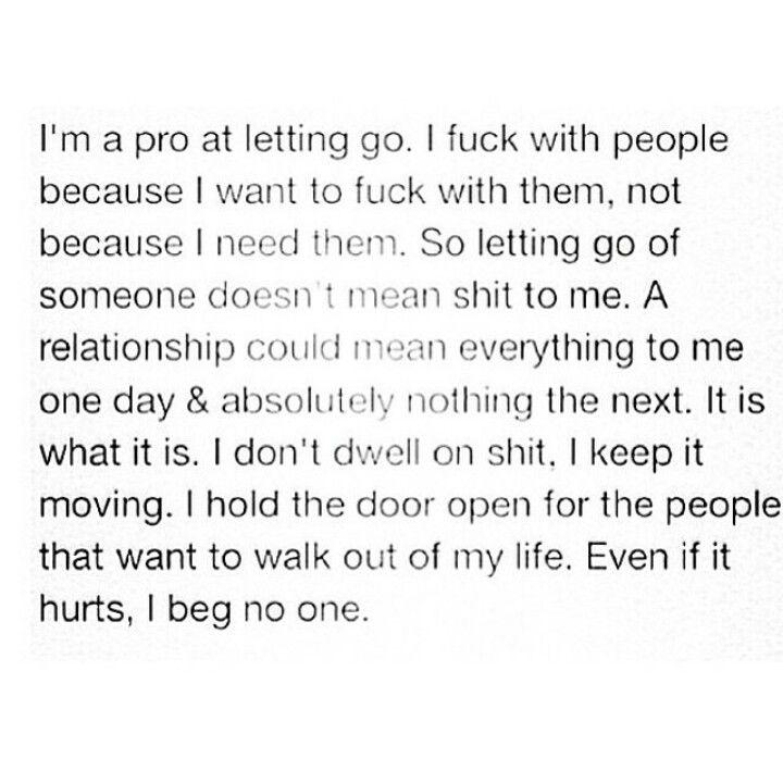 I beg no one.