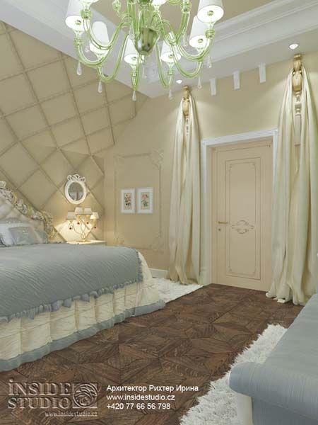 Дизайн проект интерьера спальни в загородном доме. Карловы Вары,Чехия. INSIDE-STUDIO Prague