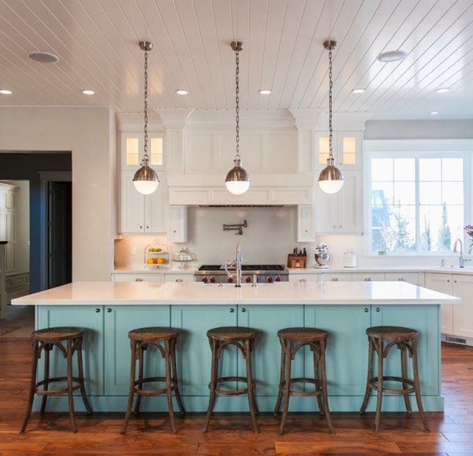 35 Kitchen Island Designs Celebrating Functional And: 1000+ Ideas About Blue Kitchen Island On Pinterest