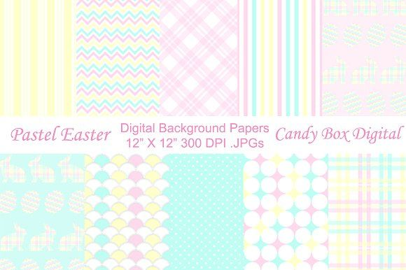 Pastel Easter Background Papers by Candy Box Digital on @creativemarket