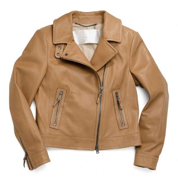 Coach Leather Motorcycle Jacket found on Polyvore