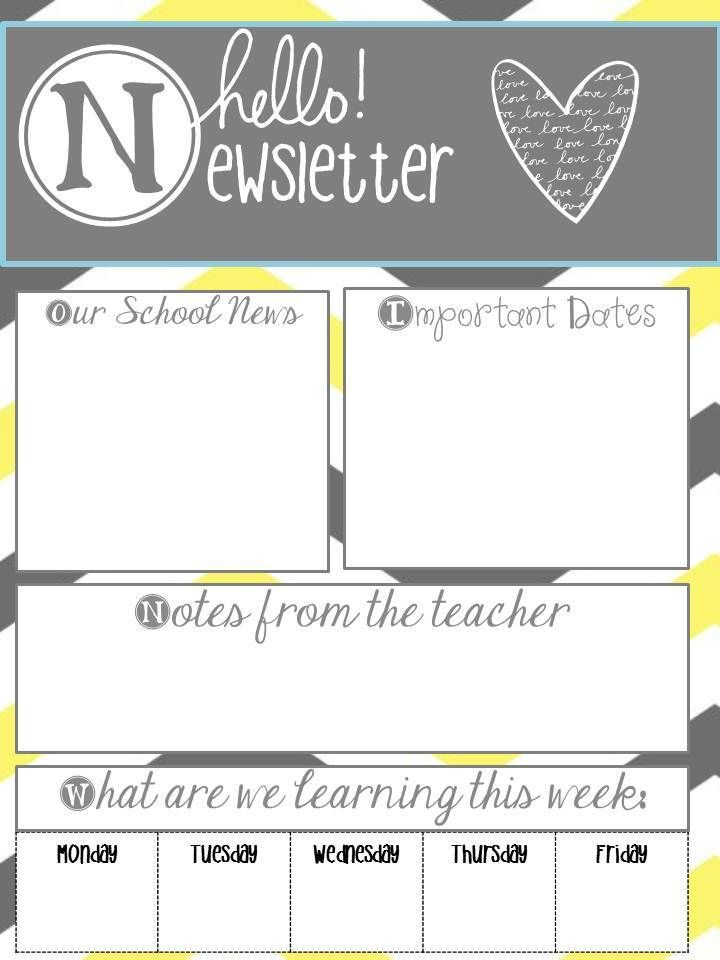 "Principal Principles: School Newsletters- Say, ""Hello"""