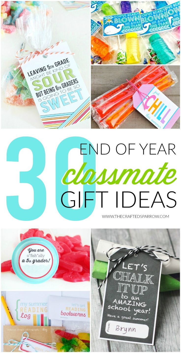 Celebrate the last day of school with a fun gift for classmates, you're sure to find something you love with one of these 30 End of Year Class Gift Ideas.