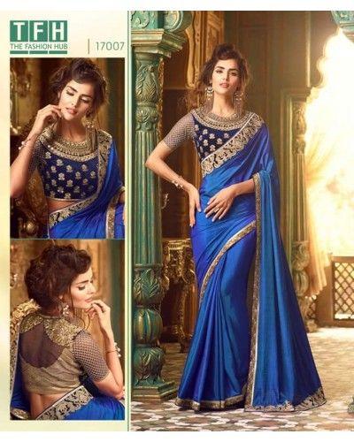 Royal Blue Silk Saree