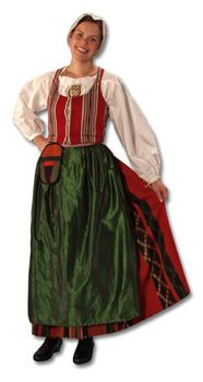 Pohjanmaa (Ostrobothnia), beautiful costumes from different regions of Pohjanmaa, but pictures are bit too small to pin.  http://www.flammuraita-helahoito.fi/ep.html.