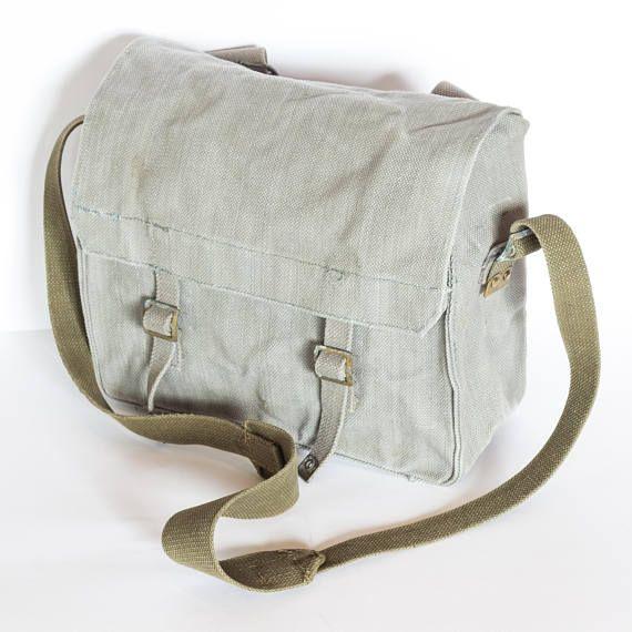 83093e0f48 L'école gris sac, sac besace en toile, détresse militaire Cross Body Bag