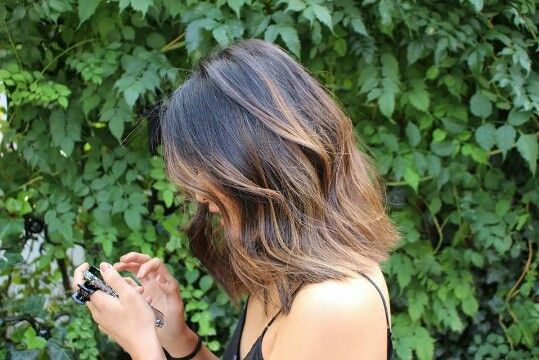 #short #asian #balayage #hair
