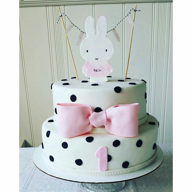 Miffy cake. First birthday