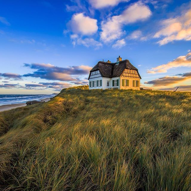 The most beautiful house in the world #landscape #denmark #løkken #rubjergknude #northsea