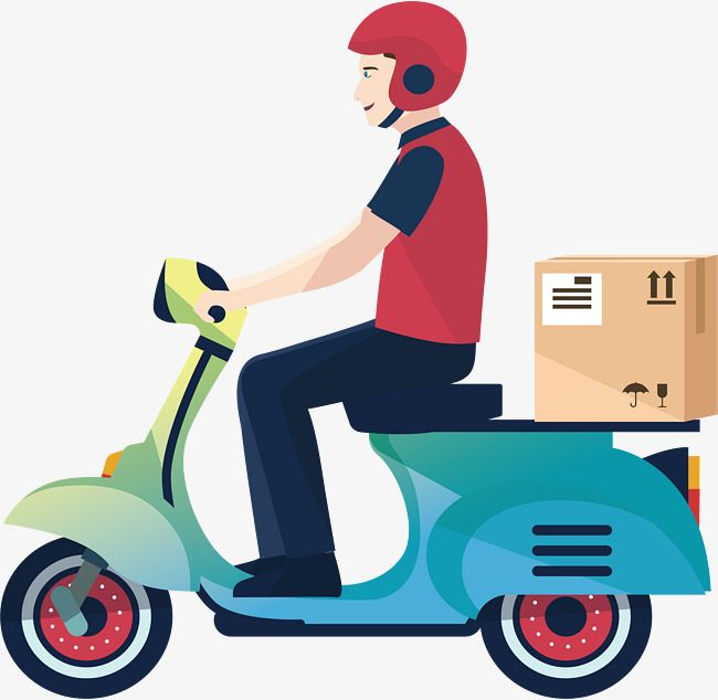 A Motorcycle Delivery Man Png And Vector Delivery Man Character Illustration Man Clipart