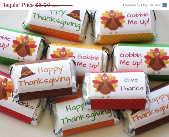 Printable Thanksgiving Candy Wrappers - DIY Thanksgiving Party Favors - Turkey