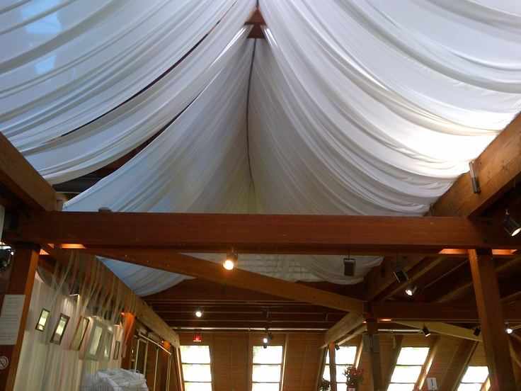 Beautiful draping in the Main Hall at Kortright