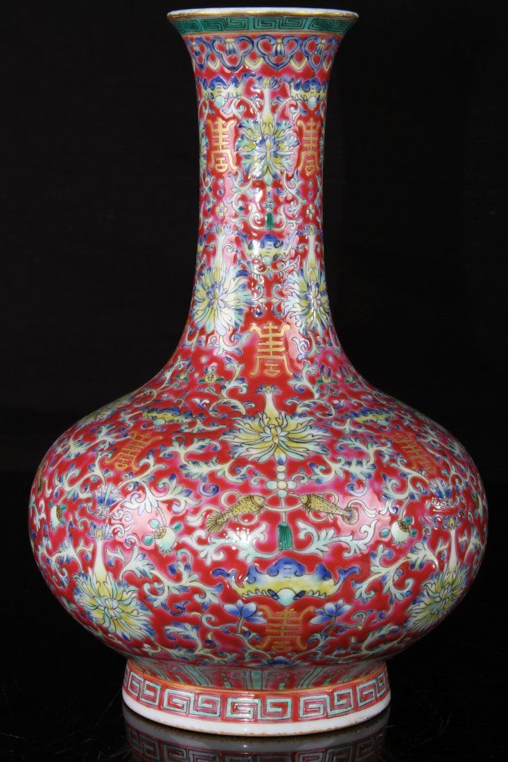 Asian red pottery
