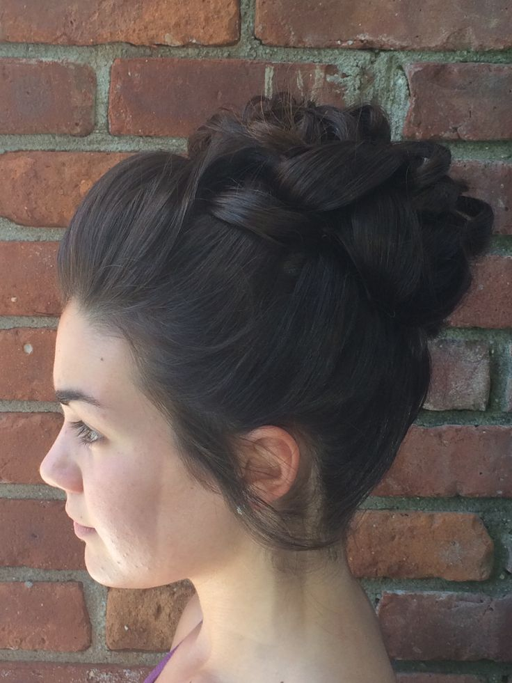 formal full high bun updo