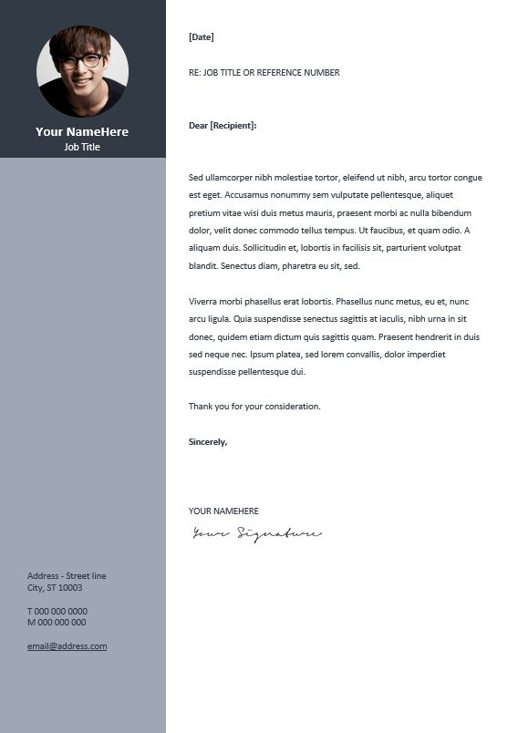 Top  Best Professional Cover Letter Template Ideas On