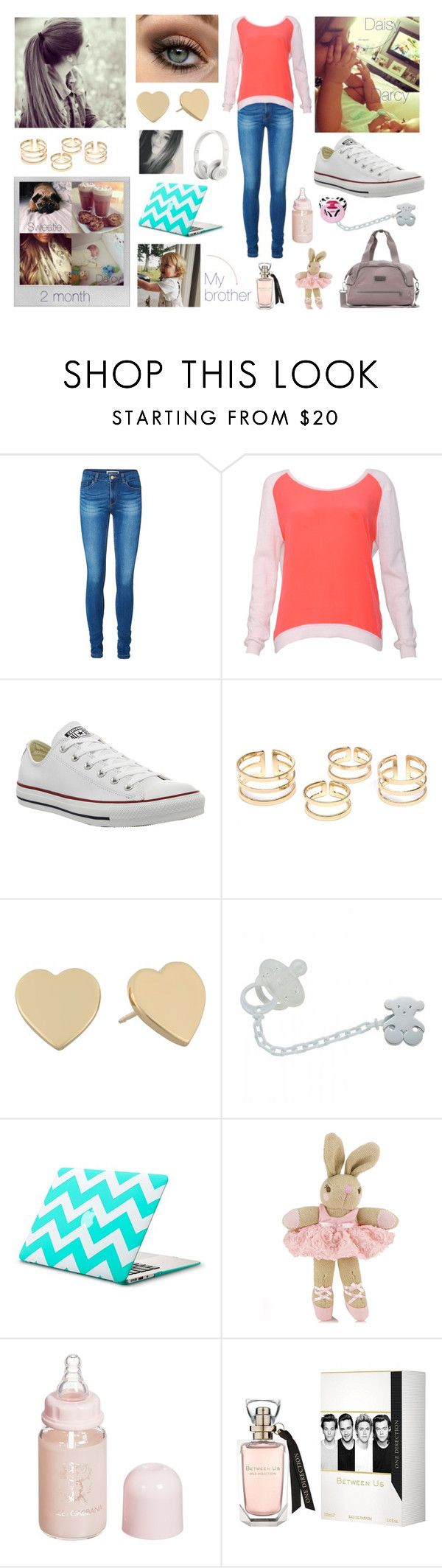 """Day with family (Darcy, Daisy, Fizzy Ernest )"" by louisericoul ❤ liked on Polyvore featuring Vero Moda, Sandro, Converse, Kate Spade, Polaroid, TOUS, Beats by Dr. Dre, Monsoon, Dolce&Gabbana and adidas"