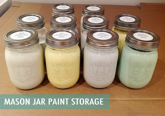 Can House Paint Be Stored In Mason Jars