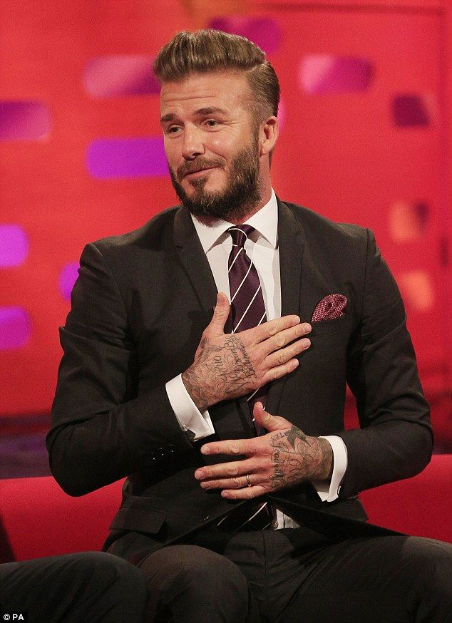 David Beckham. via MailOnline