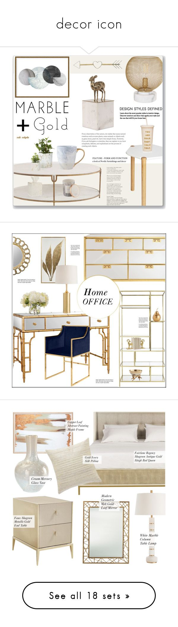 """""""decor icon"""" by arwaroro48 on Polyvore featuring interior, interiors, interior design, home, home decor, interior decorating, Umbra, cupcakes and cashmere, ban.do and Global Views"""