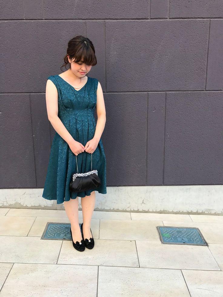 上品!ジャガード織りドレス☆新松戸店☆ ドレス:¥14000+tax