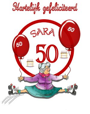 Sarah plaatjes en Sara 50 jaar bewegende plaatjes en kaartjes van Animatieplaatjes.nl