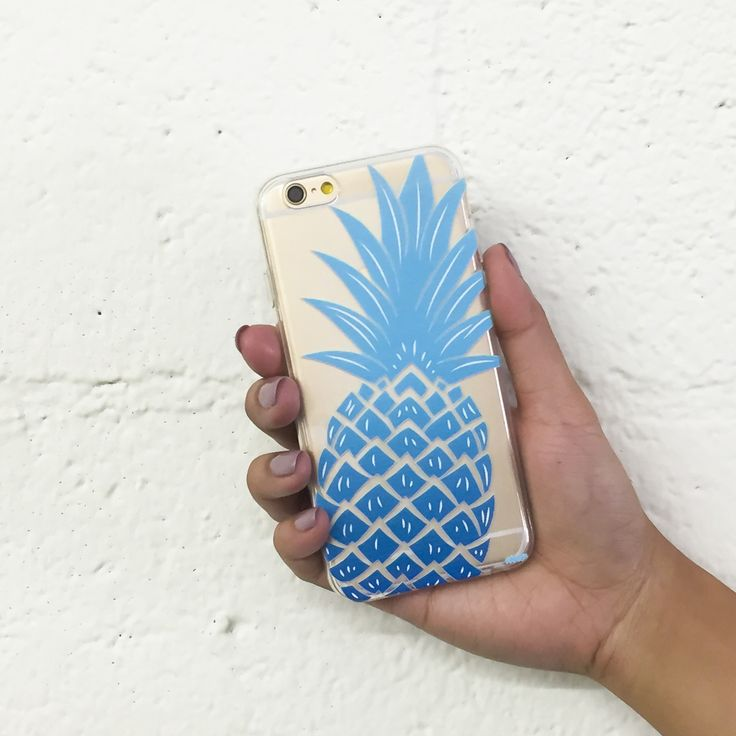 Clear Plastic Case Cover for iPhone 5 5S - The Big pineApple