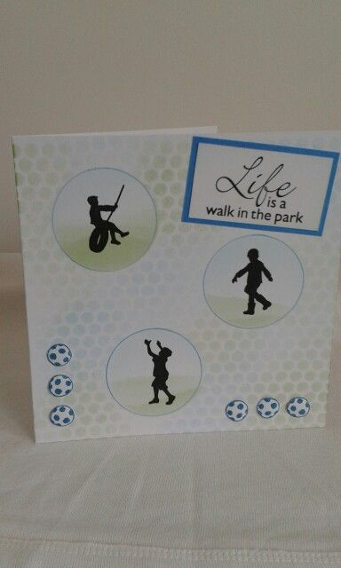 Clarity Wee Folk boys.  Using sequin waste for the background and Hobby Art stamp sentiment.  Love these stamps.