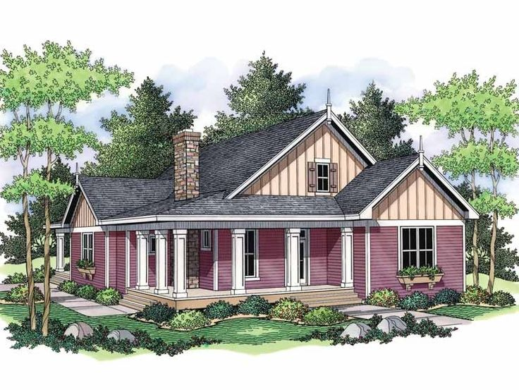Eplans Farmhouse House Plan The Isabel 1811 Square