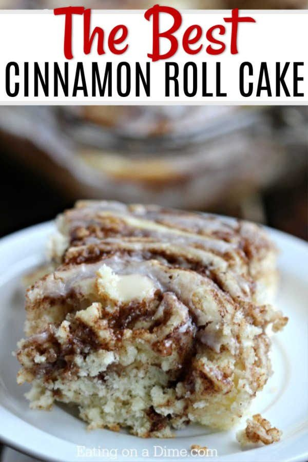 Cinnamon Roll Cake Recipe Breakfast Dessert Eating On A Dime Recipe Coffee Cake Recipes Easy Cinnamon Roll Cake Coffee Cake Recipes