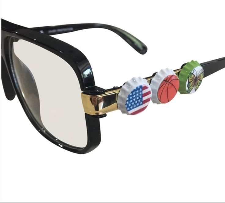Teens and tweens can decorate their glasses with these fun, unique, and easy to attach caps. Watch the video on www.mashcaps.com  Same glasses....different style for just $5 free shipping.