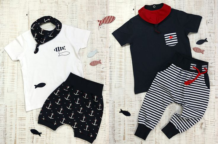 Ob Mainstream oder Retro, auch diesen Sommer wird's wieder maritim in unserem Kleiderschrank ➸ Diese maritimen Kinder-Outfits sind garantiert seetauglich!
