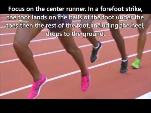 Forefoot Running is Not Toe Running - Video on how a forefoot strike should look