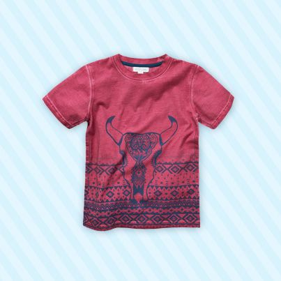 Pumpkin Patch Gradient Aztec Printed Tee - 100% cotton, available in sizes 5 to 12 years http://www.pumpkinpatchkids.com/