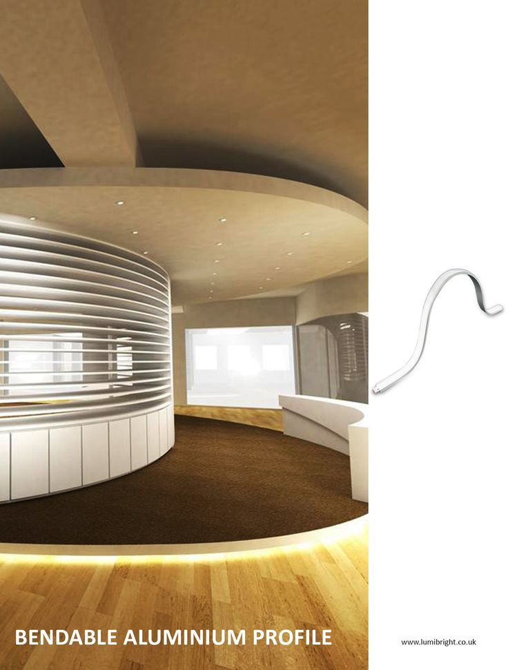Bendable aluminium extrusions are ideal for curved lighting applications they are an excellent option to take strip light installations to the next level