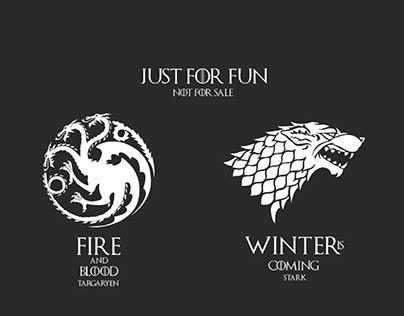 """Check out new work on my @Behance portfolio: """"Game of thrones houses Targaryen,Stark"""" http://be.net/gallery/53669047/Game-of-thrones-houses-TargaryenStark"""
