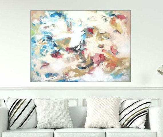 Large Painting Original Modern Art Abstract Painting On Canvas 36x48 Wall Art Office Living Room Painting La Original Modern Art Painting Painting Edges