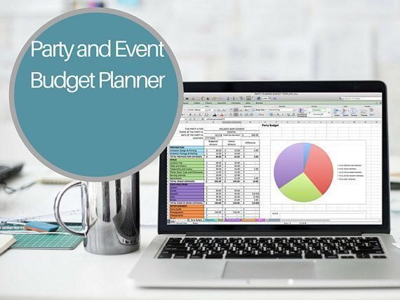 Party Budget Planner Excel Party Planner Baby Shower Budget Birthday - wedding spreadsheet template