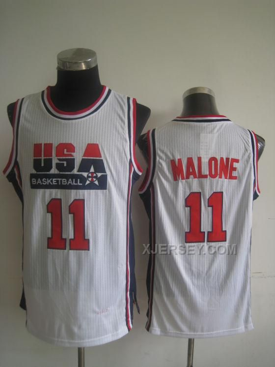 http://www.xjersey.com/usa-basketball-1992-dream-team-11-karl-malone-white-jersey.html USA BASKETBALL 1992 DREAM TEAM 11 KARL MALONE WHITE JERSEY Only $34.00 , Free Shipping!