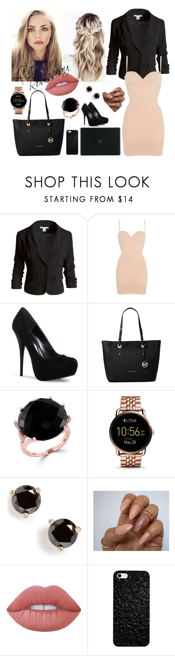 """""""léa"""" by fiax33 on Polyvore featuring Mode, Sans Souci, Wolford, Michael Kors, Effy Jewelry, FOSSIL, Kate Spade, Lime Crime und Tucano"""