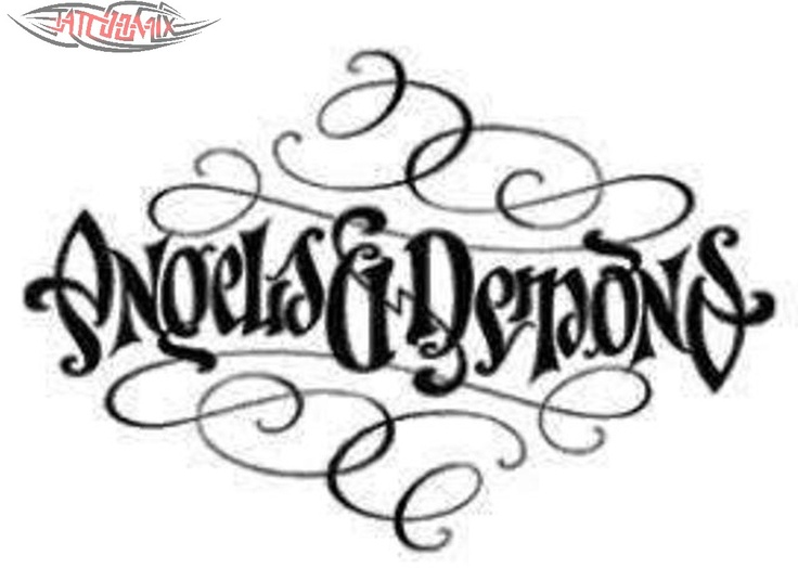 ambigram angels and demons wordplay n 39 ambigrams pinterest angel and tattoo. Black Bedroom Furniture Sets. Home Design Ideas