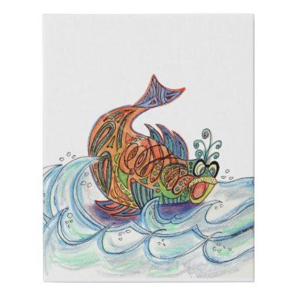 Fish out of Water Faux Canvas Print - spring gifts beautiful diy spring time new year