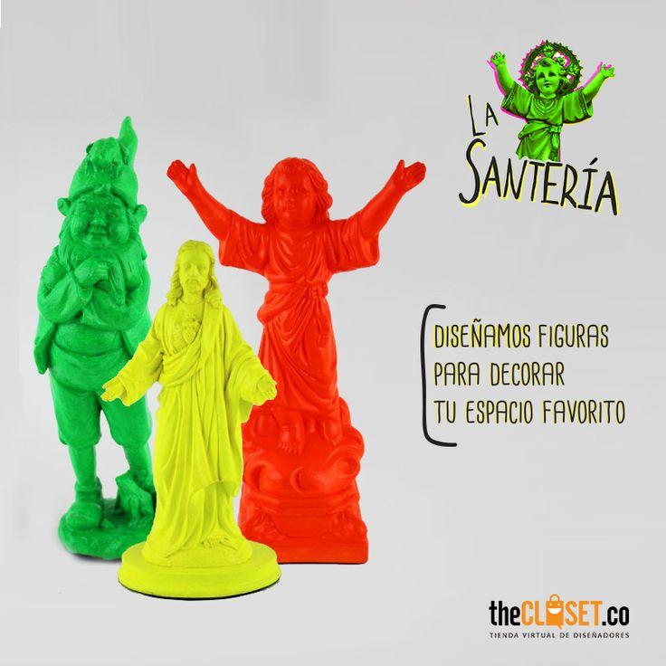 """Imágenes y objetos pintados a mano para decorar tu casa u oficina de la marca """"La Santería"""". Encuéntralos en nuestra tienda online: http://thecloset.co/la-santeria"""