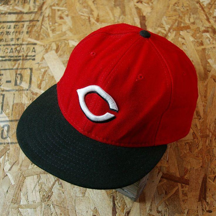 【New Eraニューエラ】USA製古着レッド×ブラックAuthentic Collection MLB シンシナティ レッズキャップ|cap-50|サイズ7 4/3