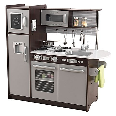 Good Let your little chef cook up some fun in the Uptown Espresso Play Kitchen from KidKraft
