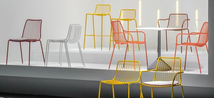 Nolita is the chair that started it all for Mario Pedrali. Take a breather from work outside on these colourful metal chairs that are perfectly designed for the outdoors.