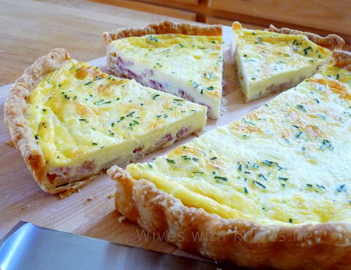 Freezer quiche :). Cook shell and meat add veggies. Wait until day of to add egg and cream mixture.