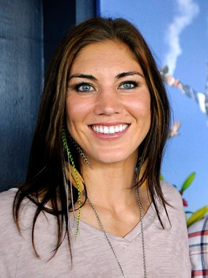 Hope Solo! Best female goal keeper in the world, one of the best goal keepers male or female in the world! No matter what anyone thinks of her, I think she is awesome and strong!