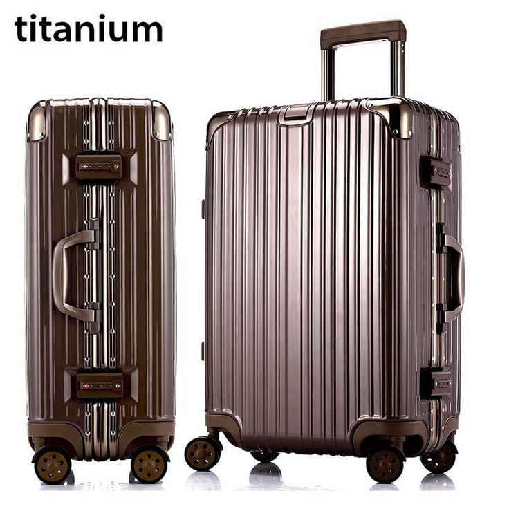"""20""""22""""24""""26""""29"""" glossy PC&Aluminum frame carry on travel trolley case cabin hardside rolling luggage suitcase with wheels valise"""