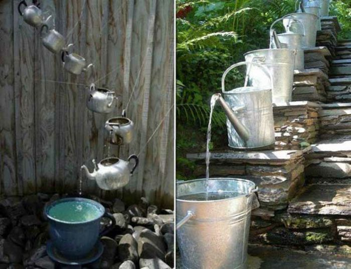 diy bewässerungssystem aus alten teekannen